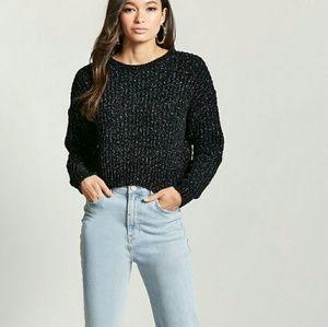 NWT Metallic Chenille Knit Sweater